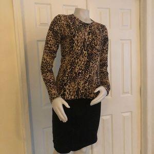 Merona Leopard Cardigan Medium